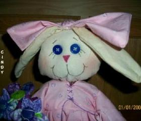 Cloth Doll Girl Bunny Rabbit